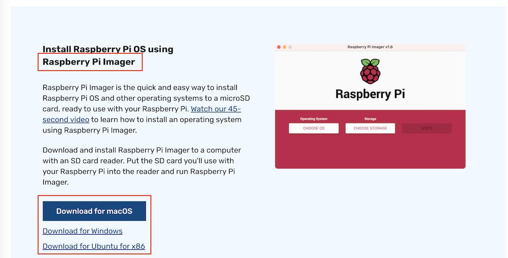 Raspberry Pi Imagerをダウンロードする
